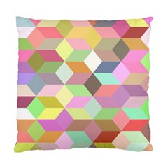 Mosaic Background Cube Pattern Standard Cushion Case (two Sides)