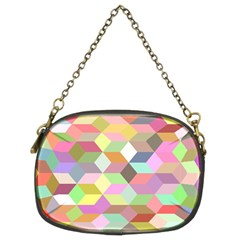 Mosaic Background Cube Pattern Chain Purses (two Sides)