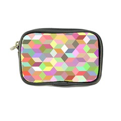 Mosaic Background Cube Pattern Coin Purse