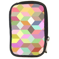 Mosaic Background Cube Pattern Compact Camera Cases