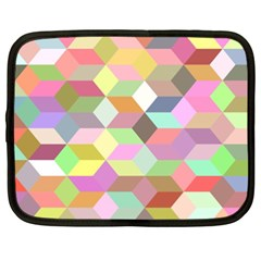 Mosaic Background Cube Pattern Netbook Case (xxl)