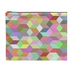 Mosaic Background Cube Pattern Cosmetic Bag (xl)