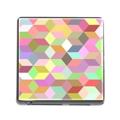 Mosaic Background Cube Pattern Memory Card Reader (square)