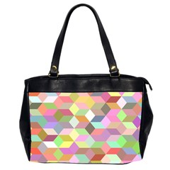 Mosaic Background Cube Pattern Office Handbags (2 Sides)