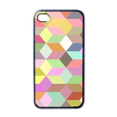 Mosaic Background Cube Pattern Apple Iphone 4 Case (black)