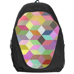 Mosaic Background Cube Pattern Backpack Bag