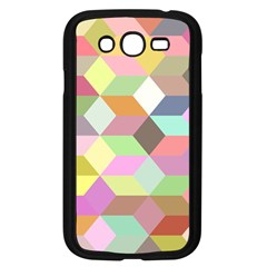 Mosaic Background Cube Pattern Samsung Galaxy Grand Duos I9082 Case (black)