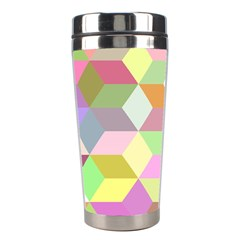 Mosaic Background Cube Pattern Stainless Steel Travel Tumblers