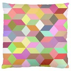 Mosaic Background Cube Pattern Standard Flano Cushion Case (one Side)