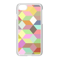 Mosaic Background Cube Pattern Apple Iphone 8 Seamless Case (white)