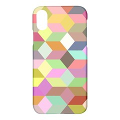 Mosaic Background Cube Pattern Apple Iphone X Hardshell Case