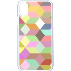 Mosaic Background Cube Pattern Apple Iphone X Seamless Case (white)