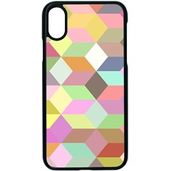Mosaic Background Cube Pattern Apple Iphone X Seamless Case (black)
