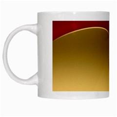 Background Festive Wave White Mugs