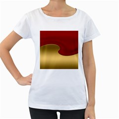Background Festive Wave Women s Loose Fit T Shirt (white)