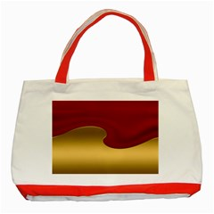 Background Festive Wave Classic Tote Bag (red)