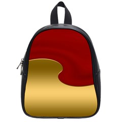 Background Festive Wave School Bag (small)