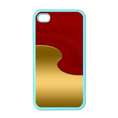 Background Festive Wave Apple Iphone 4 Case (color)