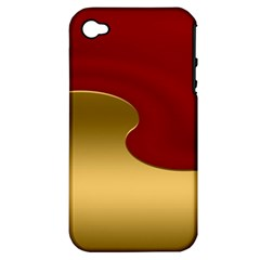 Background Festive Wave Apple Iphone 4/4s Hardshell Case (pc+silicone)