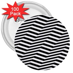 Zig Zag Zigzag Chevron Pattern 3  Buttons (100 Pack)