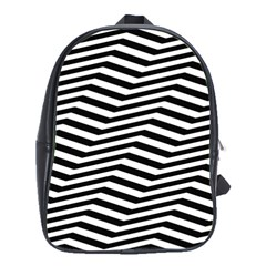 Zig Zag Zigzag Chevron Pattern School Bag (large)
