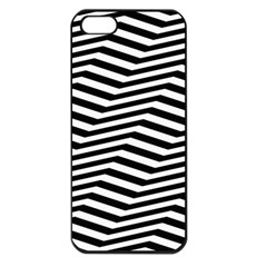 Zig Zag Zigzag Chevron Pattern Apple Iphone 5 Seamless Case (black)