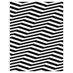Zig Zag Zigzag Chevron Pattern Drawstring Bag (large)