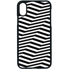 Zig Zag Zigzag Chevron Pattern Apple Iphone X Seamless Case (black)