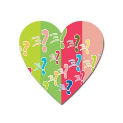 Question Mark Problems Clouds Heart Magnet