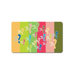 Question Mark Problems Clouds Magnet (name Card)