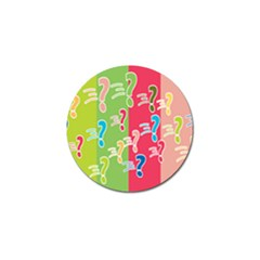 Question Mark Problems Clouds Golf Ball Marker (10 Pack)