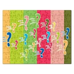 Question Mark Problems Clouds Rectangular Jigsaw Puzzl