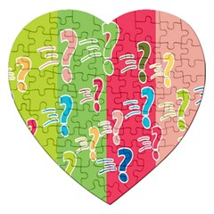 Question Mark Problems Clouds Jigsaw Puzzle (heart)