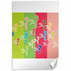 Question Mark Problems Clouds Canvas 20  X 30