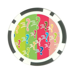Question Mark Problems Clouds Poker Chip Card Guard