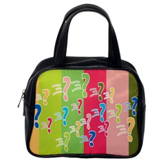 Question Mark Problems Clouds Classic Handbags (one Side)