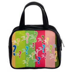 Question Mark Problems Clouds Classic Handbags (2 Sides)