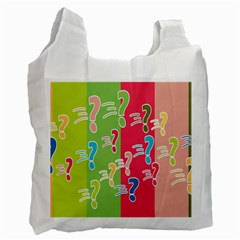 Question Mark Problems Clouds Recycle Bag (one Side)