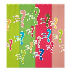 Question Mark Problems Clouds Shower Curtain 66  X 72  (large)