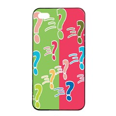 Question Mark Problems Clouds Apple Iphone 4/4s Seamless Case (black)