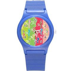 Question Mark Problems Clouds Round Plastic Sport Watch (s)