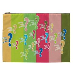 Question Mark Problems Clouds Cosmetic Bag (xxl)