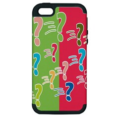 Question Mark Problems Clouds Apple Iphone 5 Hardshell Case (pc+silicone)