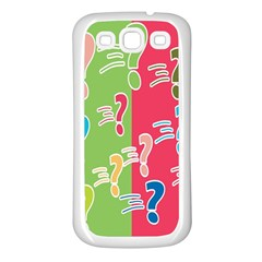 Question Mark Problems Clouds Samsung Galaxy S3 Back Case (white)