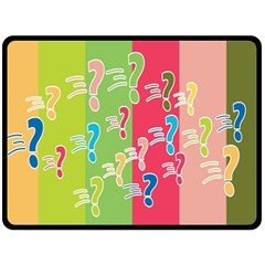 Question Mark Problems Clouds Double Sided Fleece Blanket (large)
