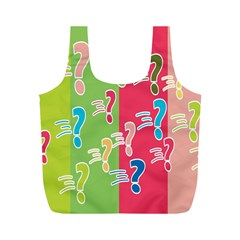 Question Mark Problems Clouds Full Print Recycle Bags (m)