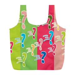 Question Mark Problems Clouds Full Print Recycle Bags (l)