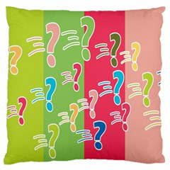 Question Mark Problems Clouds Large Flano Cushion Case (one Side)