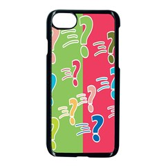 Question Mark Problems Clouds Apple Iphone 8 Seamless Case (black)