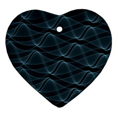 Desktop Pattern Vector Design Heart Ornament (two Sides)